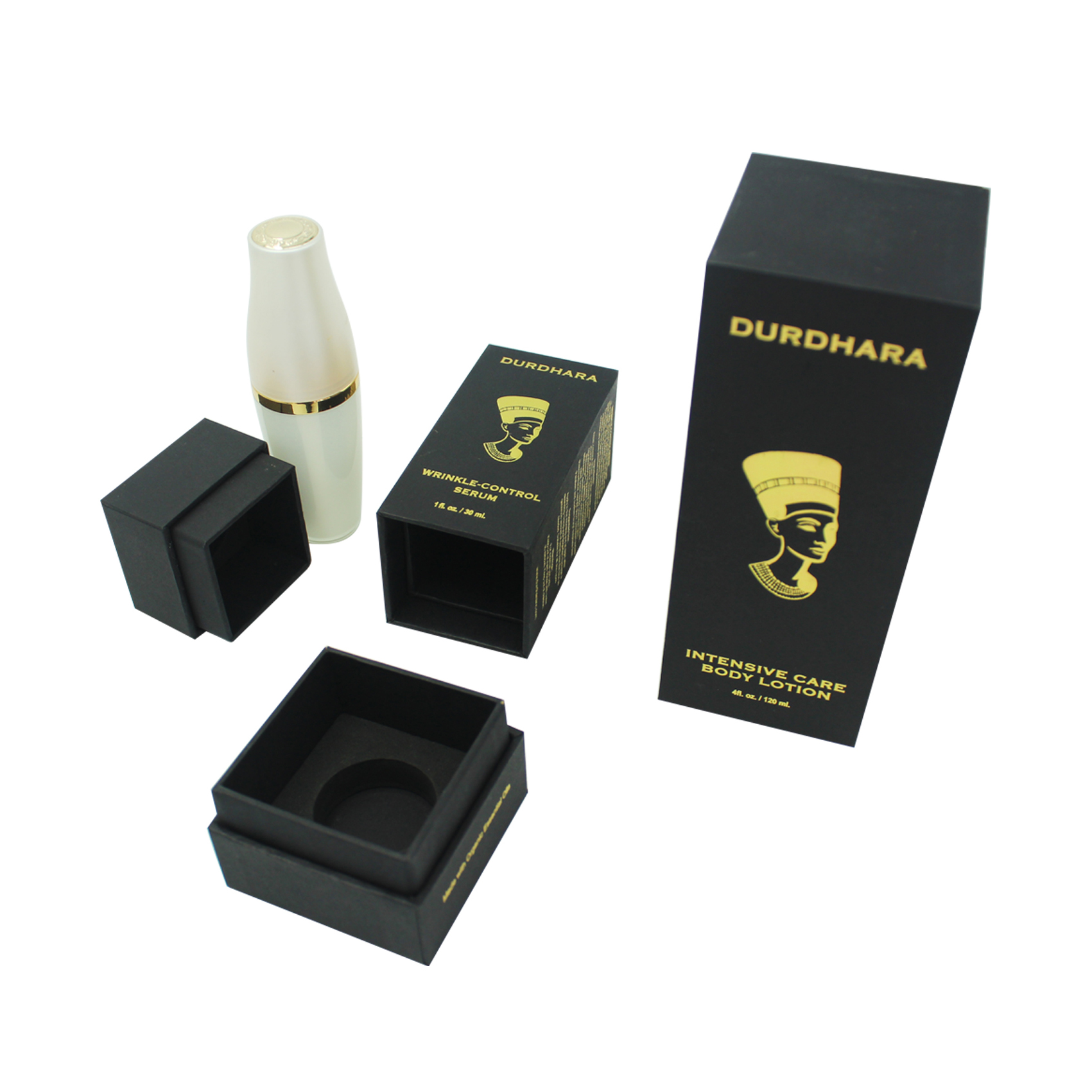 Black Gold Foil Logo Skin Care Box