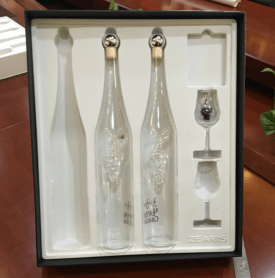 silver hot stamping wine display box
