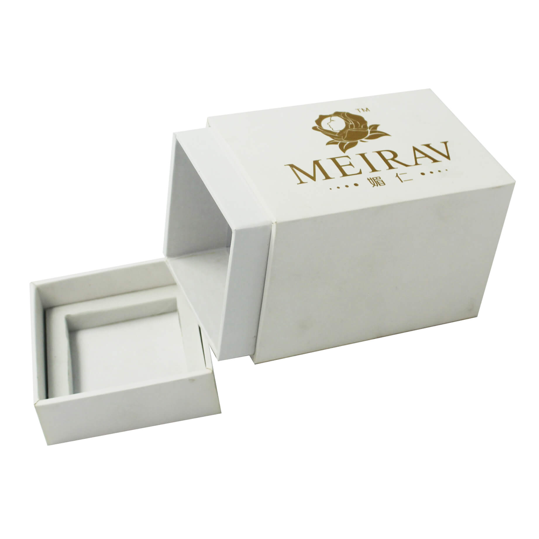 Perfume Box with Gold Hot Stamping Logo