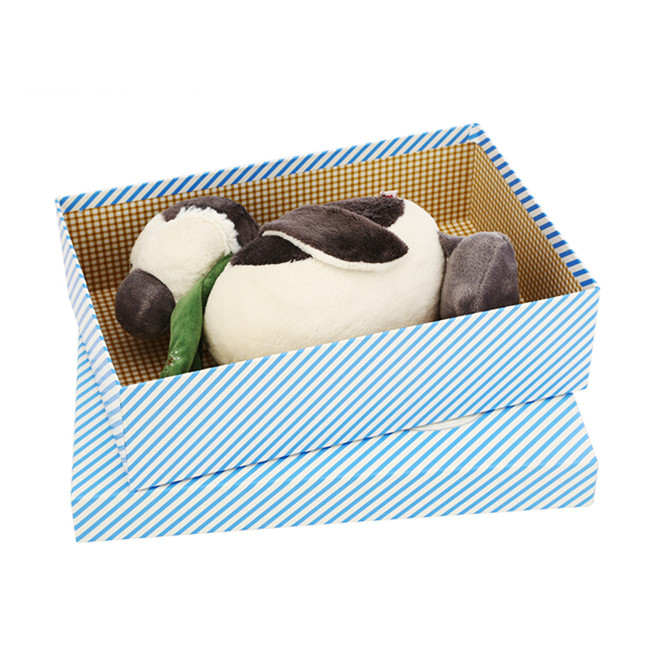 Stripe Printing Paper Gift Box For Dolls