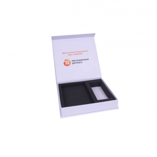 Electronics Packaging Box,White Box with Foam Insert