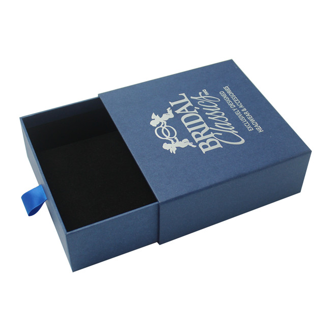 Pearl blue personalised jewellery box drawer box type