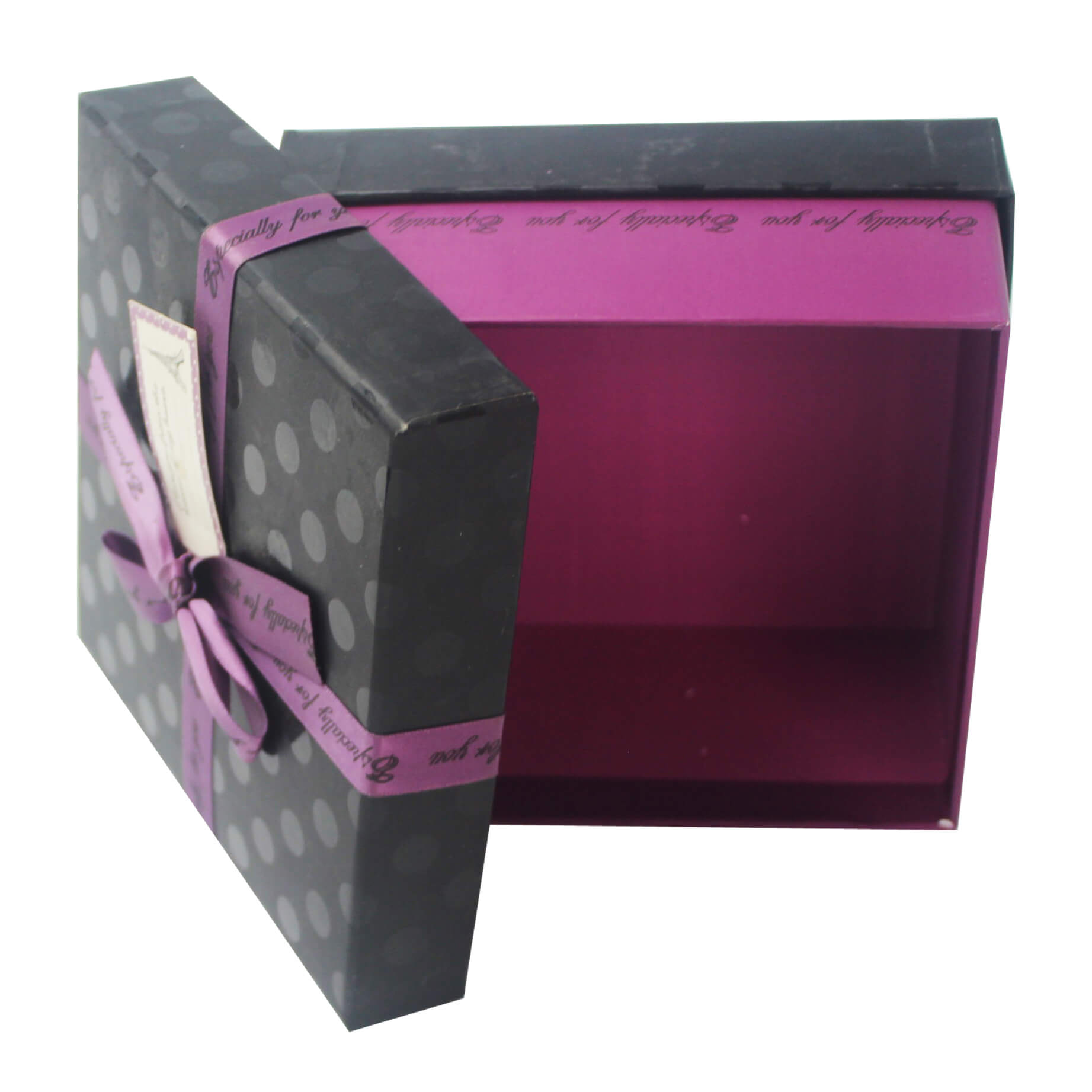 purple and black box