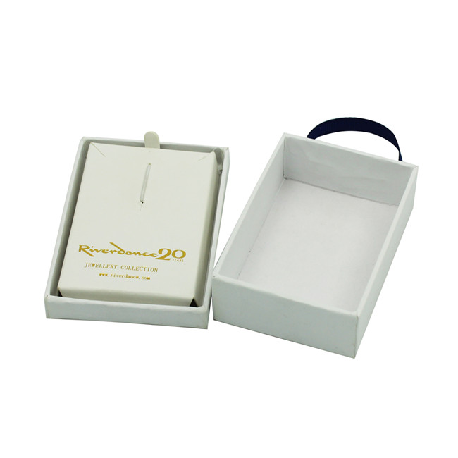 Ribbon hanger cardboard bracelet and earring gift box