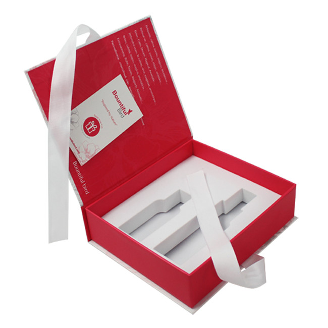 book shape box with ribbon