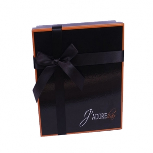 Luxury Glossy Black Shirt Boxes with Lids