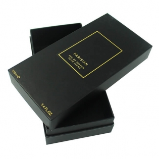 Large Black with Gold Foil Logo Perfume Box