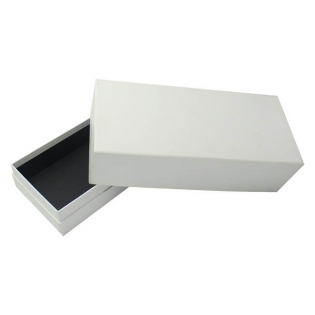 Plain White Cardboard Gift Box with Lid
