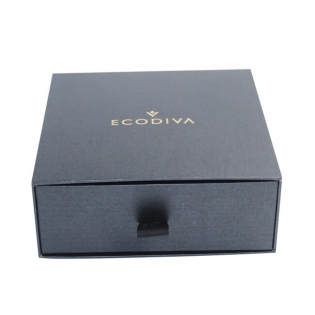 Matte Black Gift Boxes With Gold Glitter Logo
