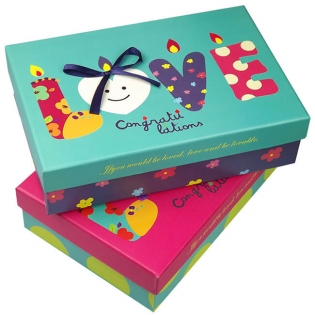 Full Color Printing Cardboard Boxes with Lids for Gifts