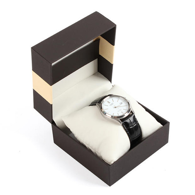 Magnetic Closured Personalised Watch Box With Holder