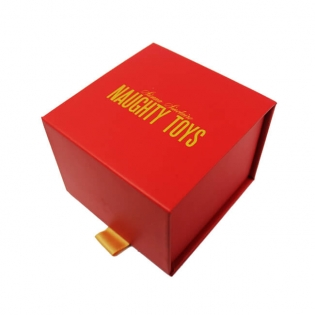 Magnet Red Cardboard Book Shaped Gift Box