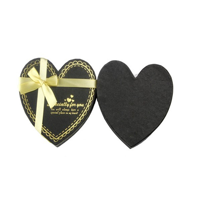 Black Chocolate Box, Gift Candy Boxes With Ribbon