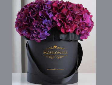 Matte Black Flower Gift Box With Custom Logo Foiled