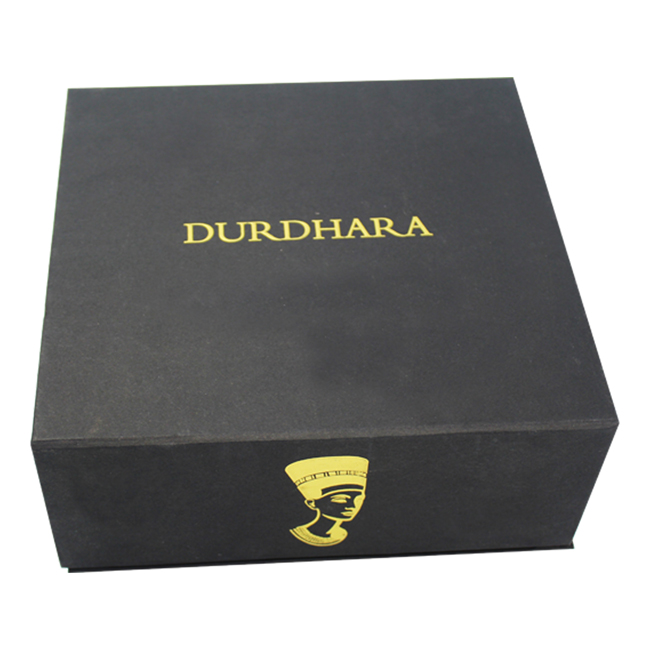 cosmetic gift box with logo in gold