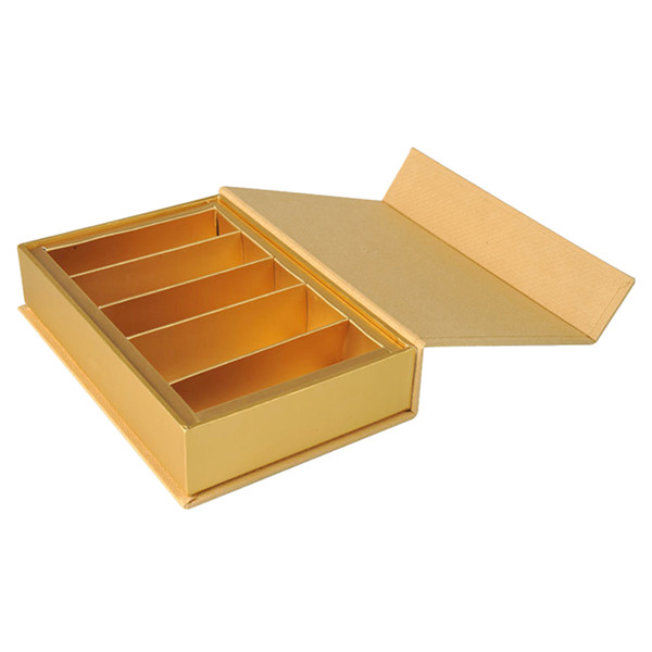 Matte Gold High End Cosmetic Packaging Boxes