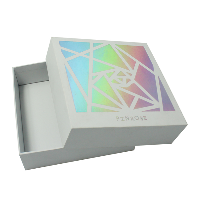 Holographic Gold Stamped Cosmetic Packaging Boxes