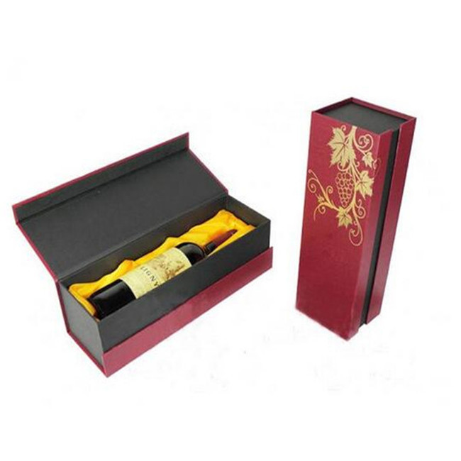 Book Shape Cardboard Personalised Wine Boxes