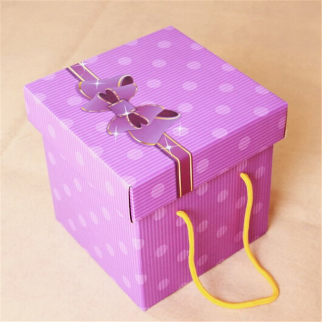 Cardboard Flower Box With Handle, Packaging Box