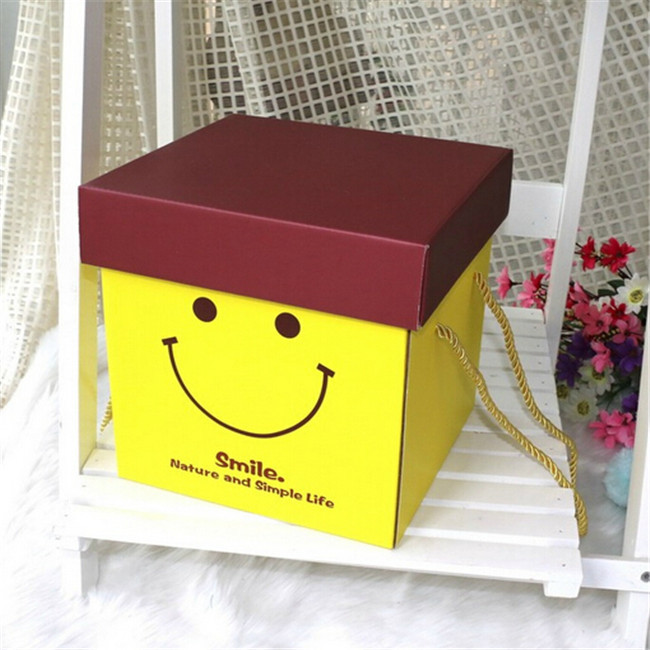 Smile Print Flower Storage Box For Delivery