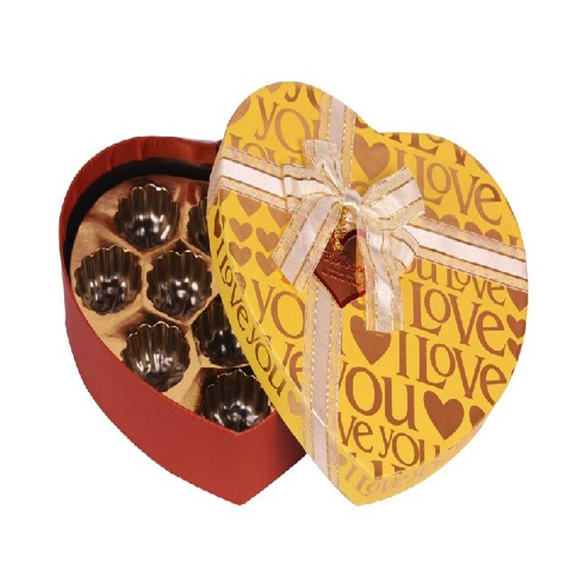 Gold Foiled Chocolate Box Heart Shaped